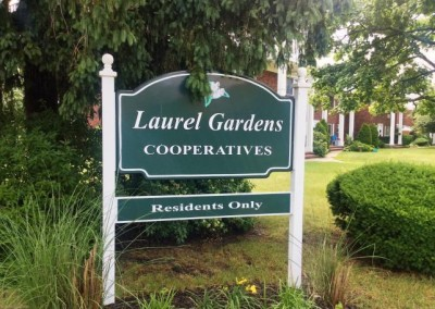 Laurel Gardens sign